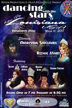 Show Ad | Miss Gay Louisiana USofA | Aphrodite Hall (Houma, Louisiana) | 3/10/2018