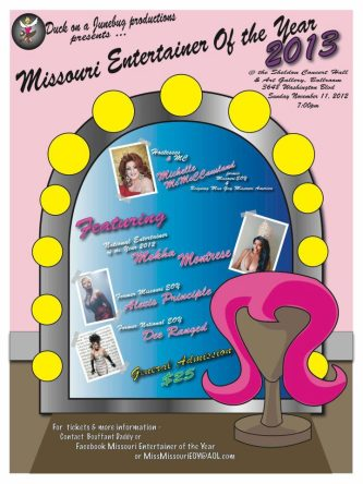 Show Ad | Missouri Entertainer of the Year, F.I. | Sheldon Concert Hall (St. Louis, Missouri) | 11/11/2012
