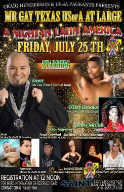 Show Ad   Mr. Gay Texas USofA at Large   Saint (San Antonio, Texas)   7/25/2014