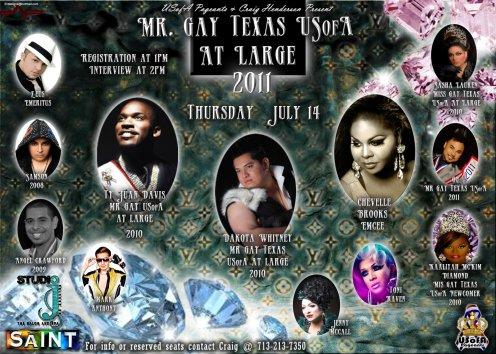 Show Ad | Mr. Gay Texas USofA at Large | The Saint (San Antonio, Texas) | 7/14/2011