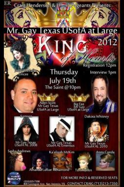 Show Ad | Mr. Gay Texas USofA at Large | The Saint (San Antonio, Texas) | 7/19/2012