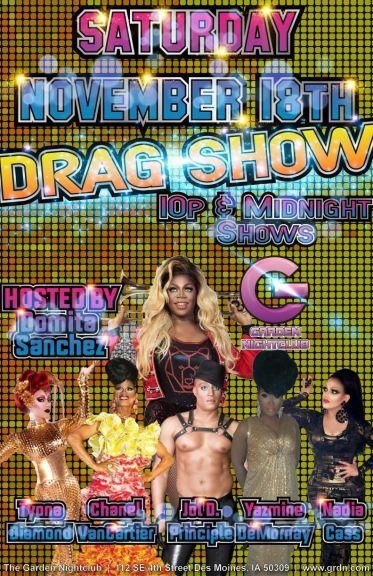 Show Ad   Garden Nightclub (Des Moines, Iowa)   11/18/2017