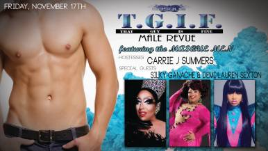 Show Ad | T.G.I.F. Male Revue featuring the Masque Men | Masque (Dayton, Ohio) | 11/17/2017
