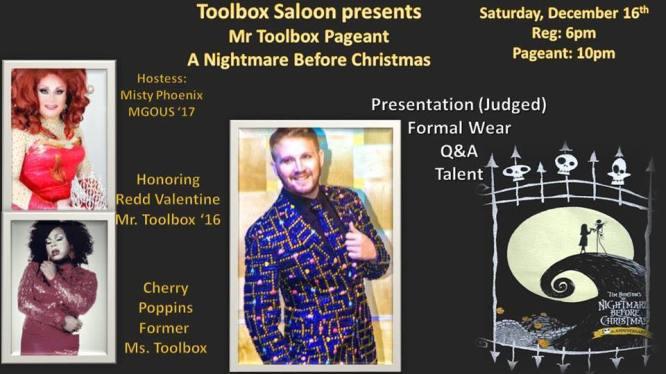 Show Ad | Mr. Toolbox Pageant | Toolbox Saloon (Columbus, Ohio) | 12/16/2017