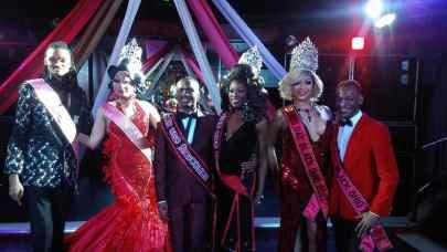 Psych Valentino, Natasshja Norielle, Khai Braxton, Alexis Milan, Solandra Tasaki Dupree and Tevin St. James at Mr and Miss Gay Black Newcomer 2018 pageant.