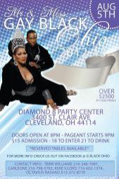 Show Ad | Miss Gay Black Ohio and Mr. Gay Black Ohio | Diamond 8 Party Center (Cleveland, Ohio) | 8/5/2012
