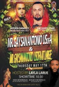 Show Ad   Mr. Gay San Antonio USofA and Mr. Gay San Antonio USofA at Large   Pegasus (San Antonio, Texas)   5/17/2018
