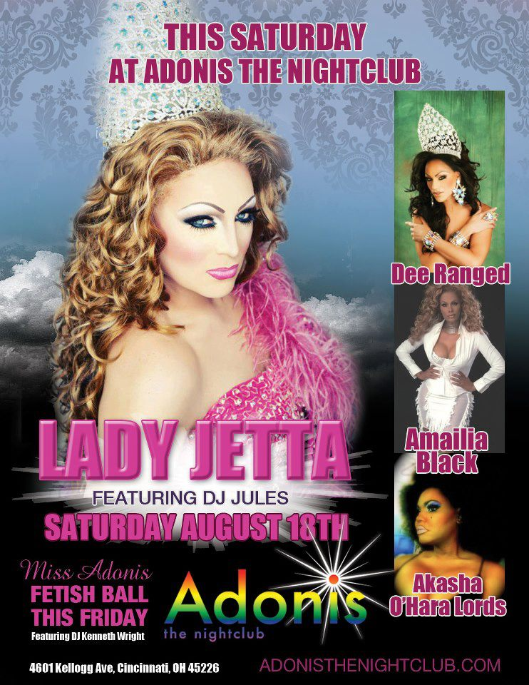 Ad | Adonis the Nightclub (Cincinnati, Ohio) | 8/18/2012
