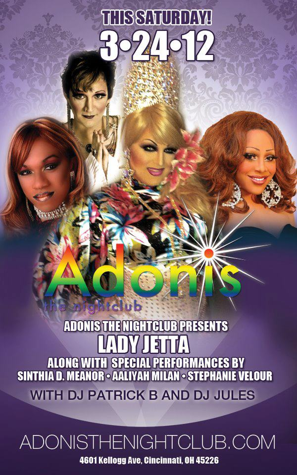 Ad | Adonis the Nightclub (Cincinnati, Ohio) | 3/24/2012