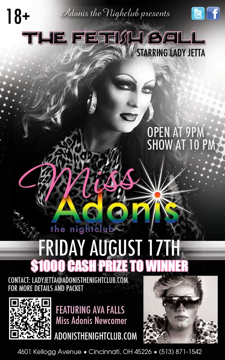 Ad | Adonis the Nightclub (Cincinnati, Ohio) | 8/17/2012