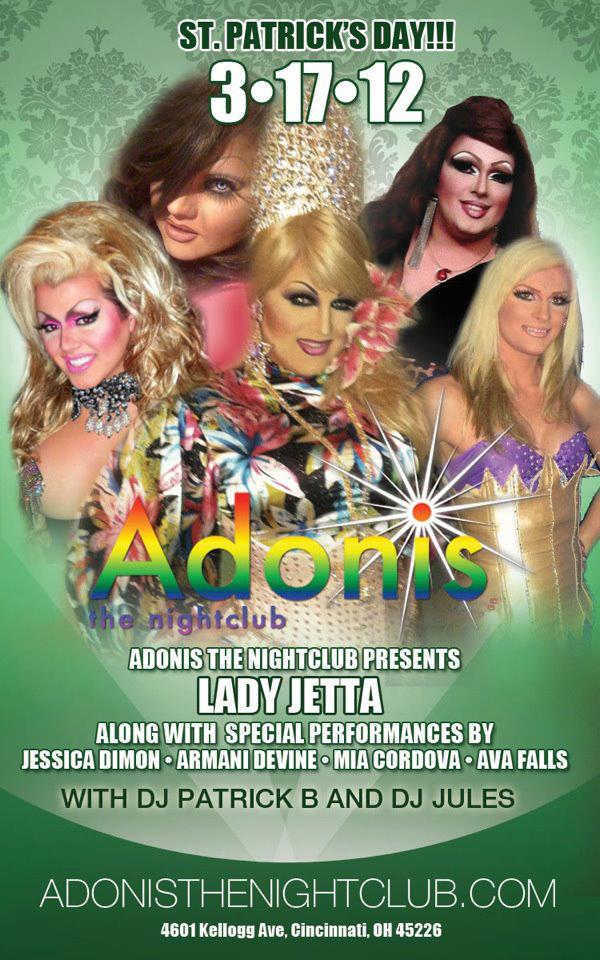 Ad | Adonis the Nightclub (Cincinnati, Ohio) | 3/17/2012