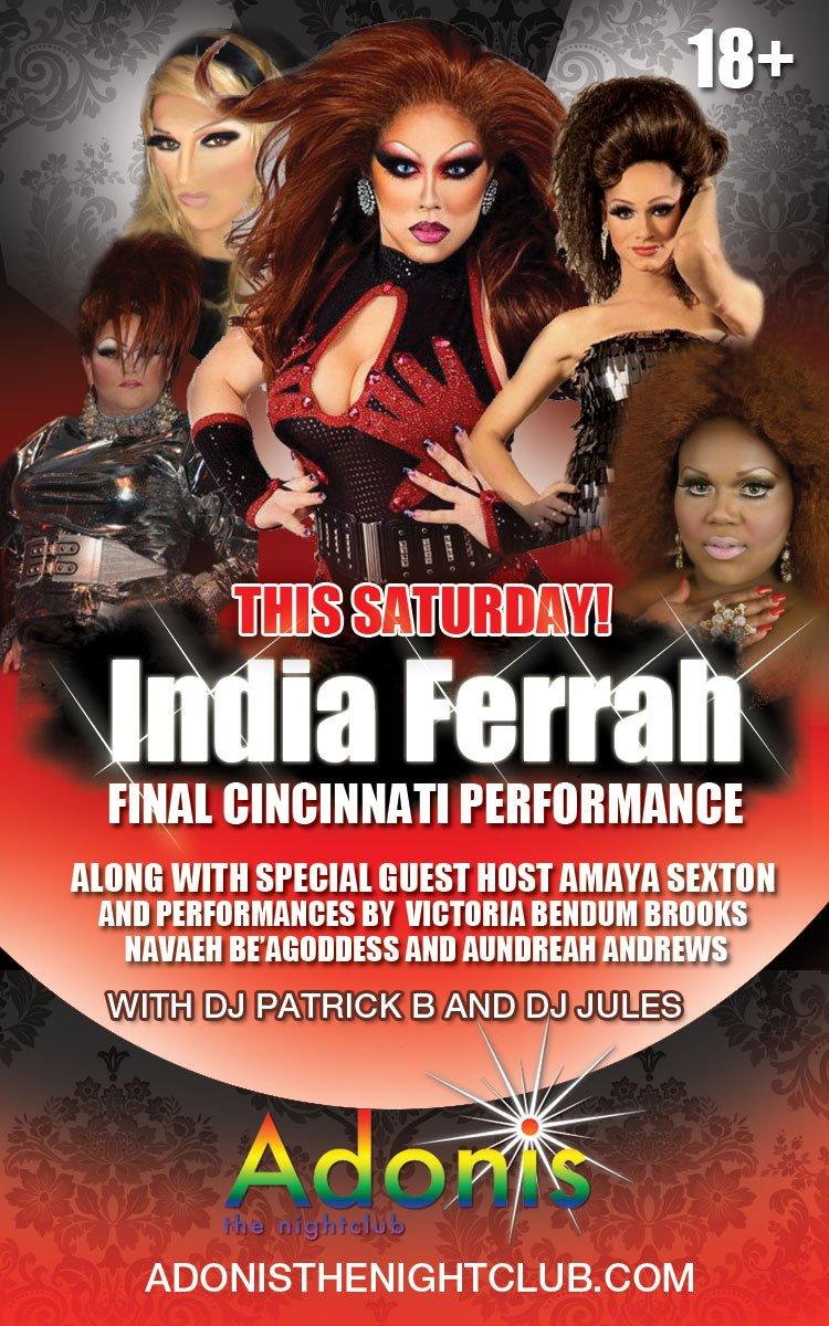 Ad   Adonis the Nightclub (Cincinnati, Ohio)   4/7/2012