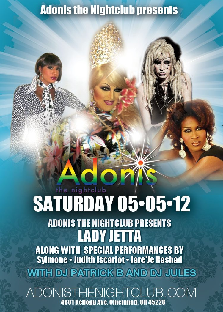 Ad | Adonis the Nightclub (Cincinnati, Ohio) | 5/5/2012