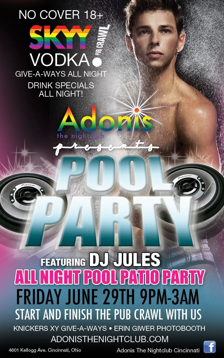 Ad | Adonis the Nightclub (Cincinnati, Ohio) | 6/29/2012