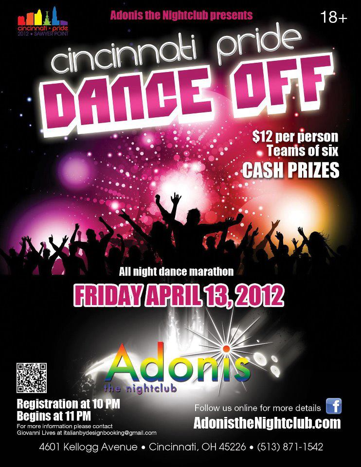 Ad | Adonis the Nightclub (Cincinnati, Ohio) | 4/13/2012
