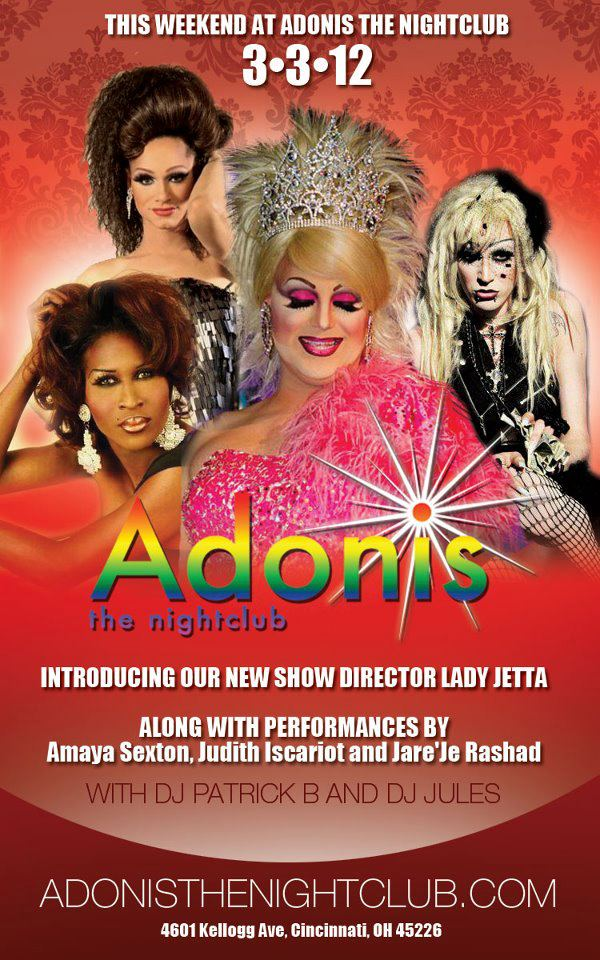 Ad | Adonis the Nightclub (Cincinnati, Ohio) | 3/3/2012
