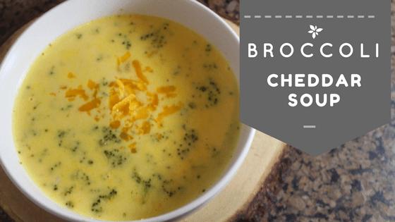 Super Simple Broccoli Cheddar Soup