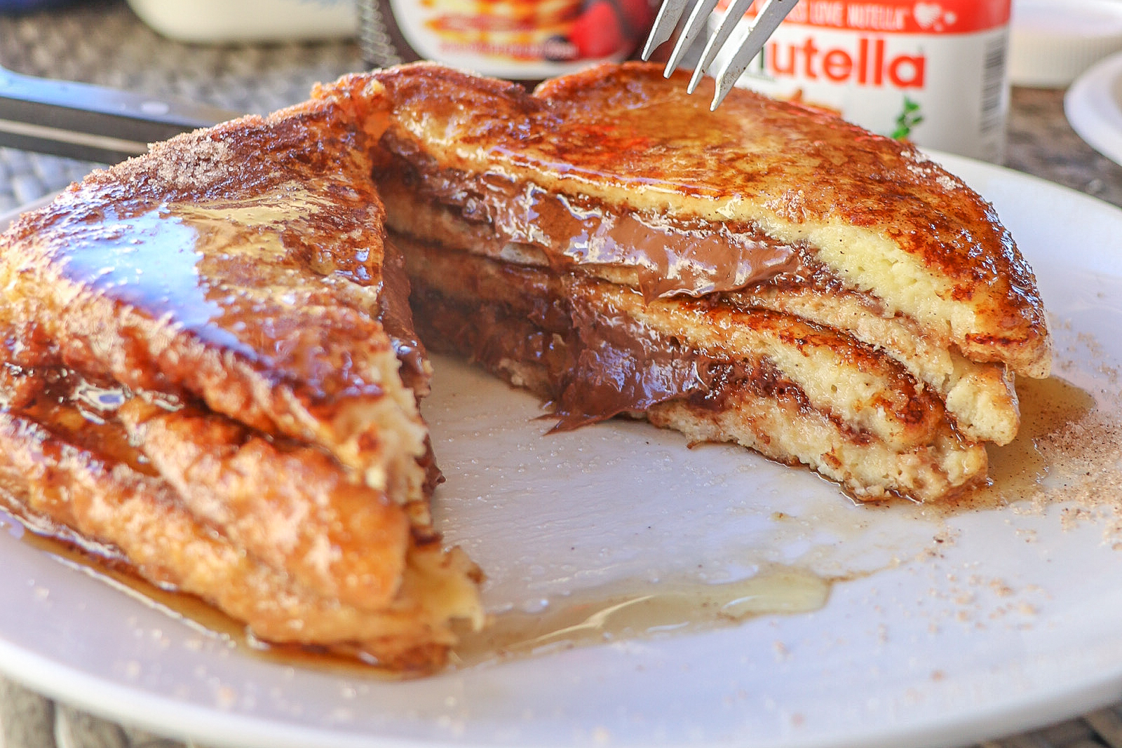 Nutella Stuffed French Toast