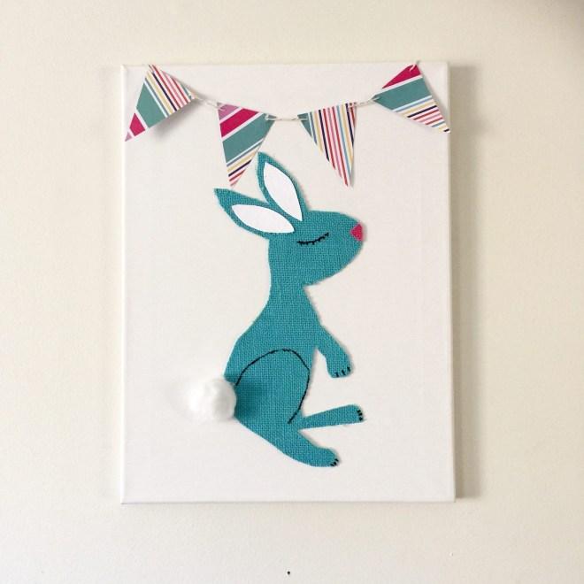 Burlap Bunny Easter Art