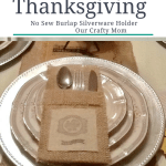 Thanksgiving Burlap Silverware Holder