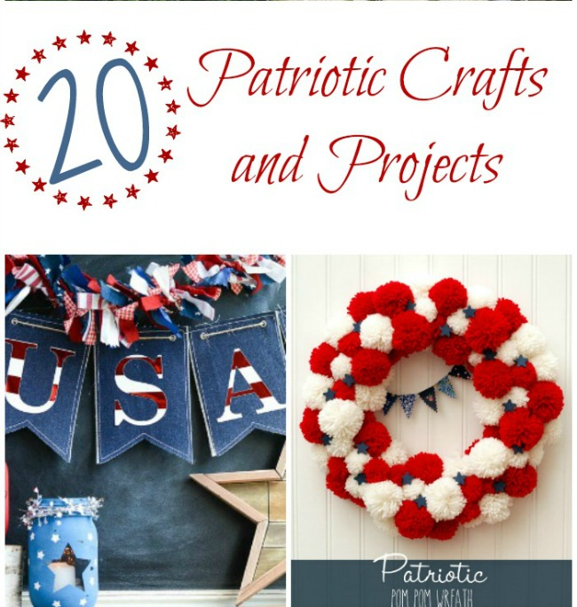 http://thecraftyblogstalker.com/20-patriotic-crafts-projects/