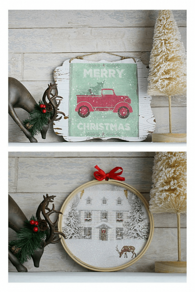 DIY HOLIDAY GIFT BAG SIGN