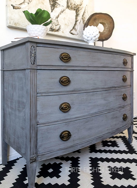 Painted furniture ideas Grey 25 Farmhouse Style Gray Painted Furniture Ideas Centsible Chateau farmhousepaintedfurniture diy paintedfurniture Centsible Chateau 25 Beautiful Gray Painted Furniture Pieces That Will Inspire