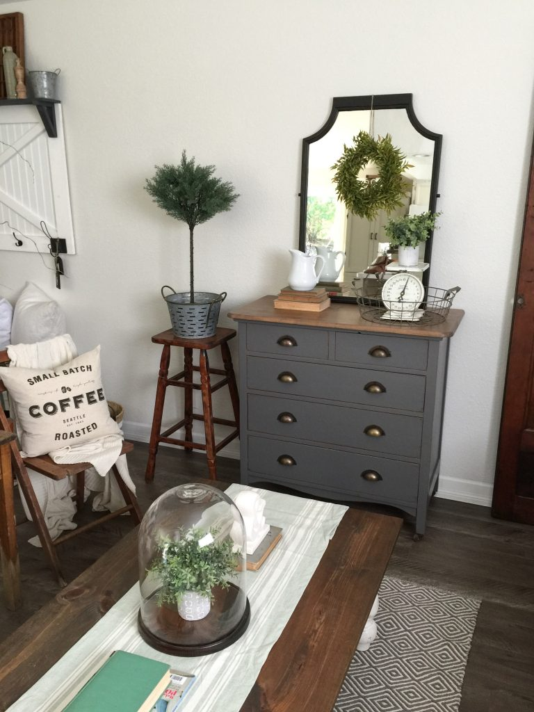 painted furniture ideas. 25 Farmhouse Style Gray Painted Furniture Ideas - Centsible Chateau #graypaintedfurniture #farmhousestyle