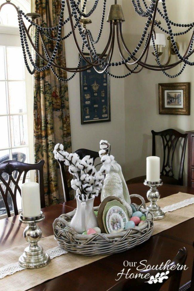 Farmhouse Style Spring Centerpiece Ideas Centsible Chateau #springfarmhousedecor #springdecorating #farmhousestyle