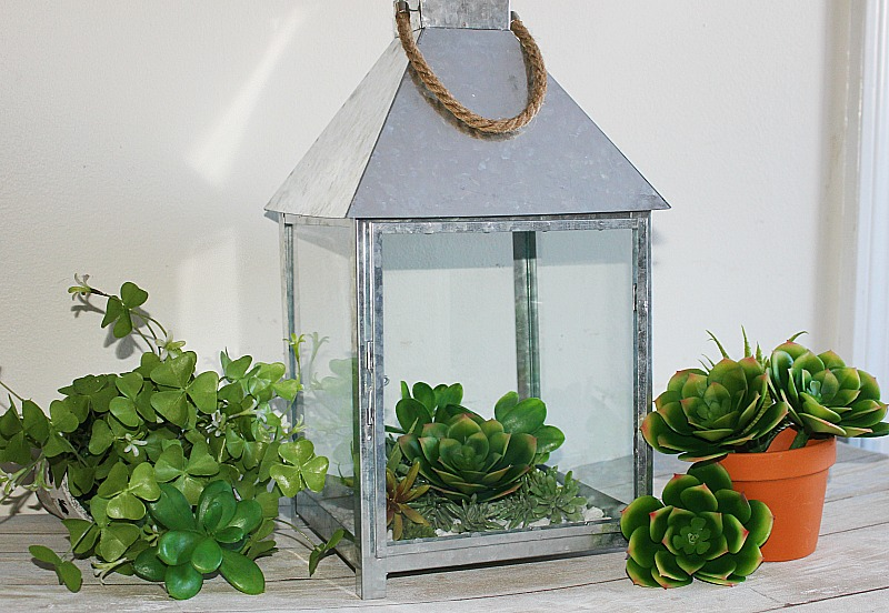 How To Make A Beautiful Succulent Terrarium Centsible Chateau #succulentterrarium #succulentlantern #terrarium