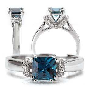 117248sal Princess Cut Chatham Alexandrite Engagement Ring