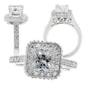 117705 princess cut semi-mount engagement ring
