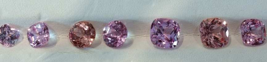 Chatham-created champagne and pink champagne sapphires