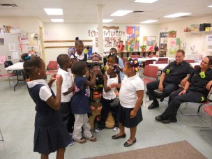 Firefighters visit Kids Club