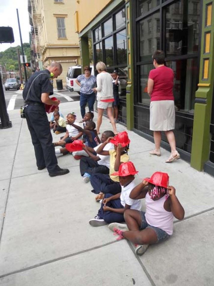 Firefighters visit Kids Club
