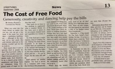 The cost of free food