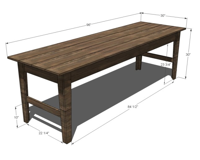 Diy Narrow Coffee Table Plans Wooden Pdf Built In Dining
