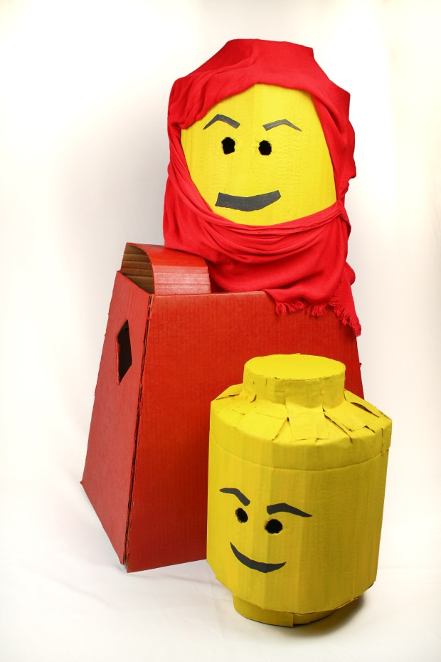 lego head DIY costume