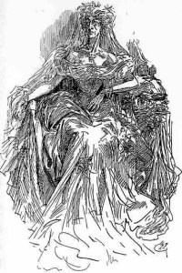 Miss Havisham, in art by Harry Furniss