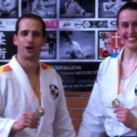Felipe Iglesias y Tamara Silva matrimonio medallista en el Torneo de Jiu Jitsu de Calatayud