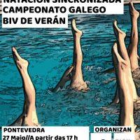 Sincro Ourense en el Campeonato Galego BIV de Verán de Sincronizada