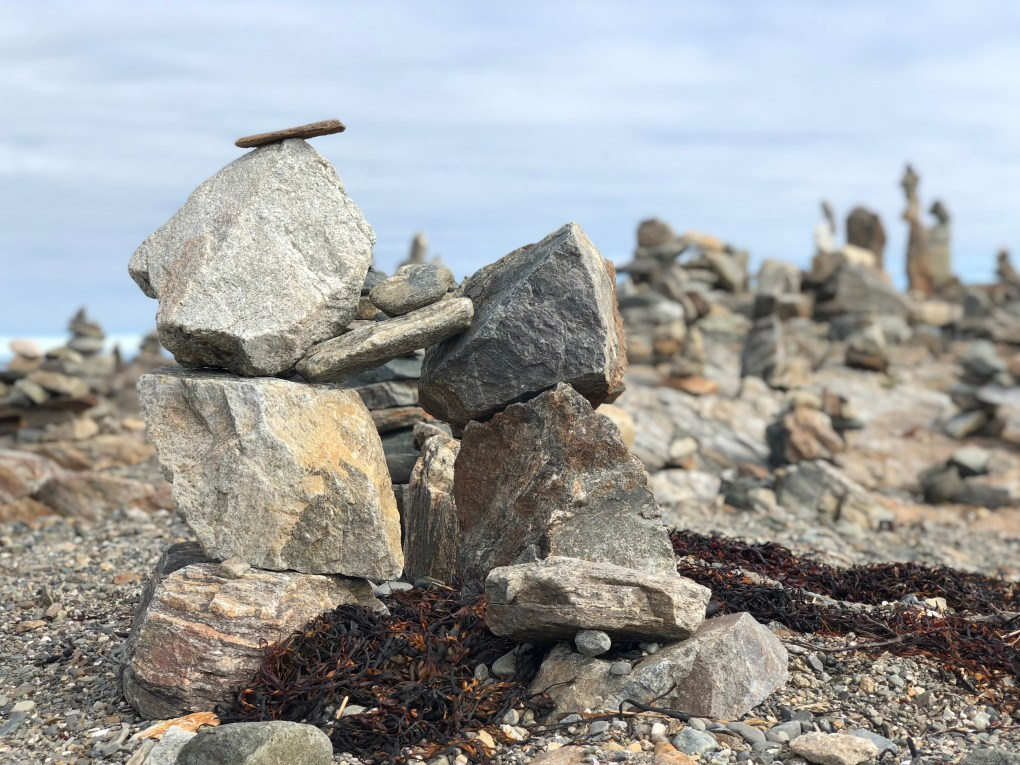 Cairns on New Hampshire Coast