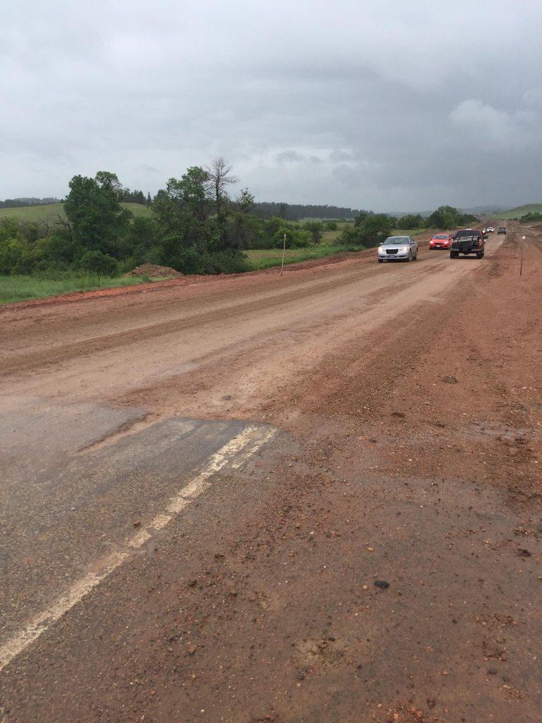 Montana muddy road