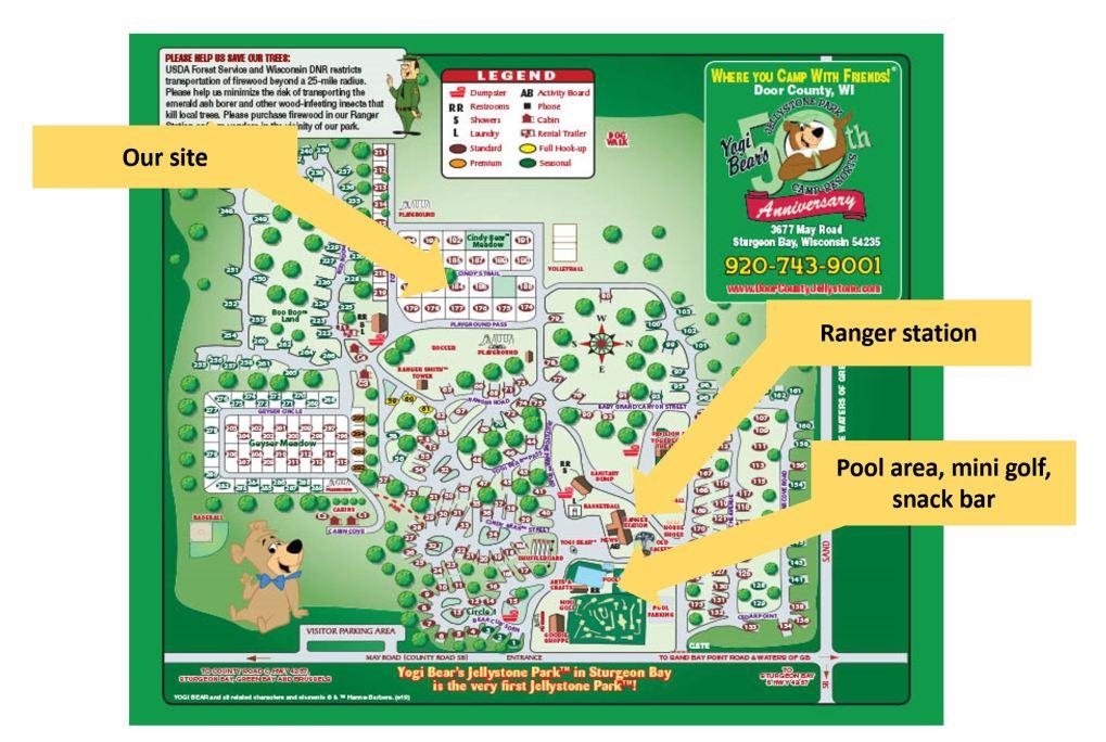 Door County Jellystone Park map