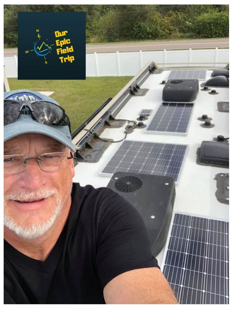 motorhome solar panel installation - finished
