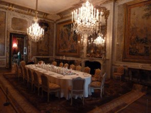 Dining room in Waddeson Manor