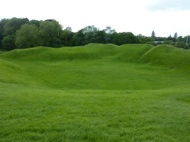 Roman Amphitheatre in Cirencester seating 8000