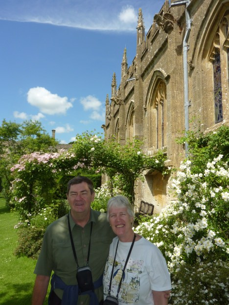 Us outside the church where Catherine Parr is buried - Sudeley Castle