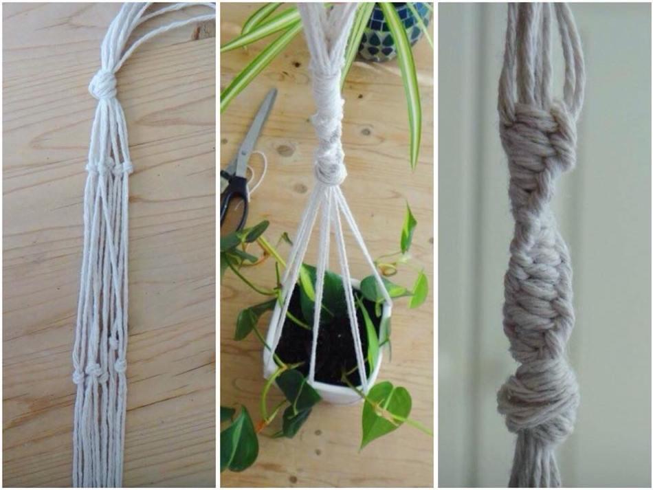 Branch Macrame Plant Hanger DIY (12)