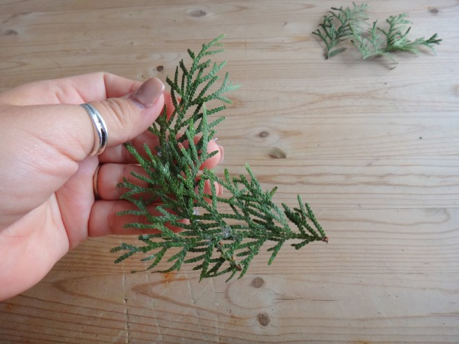 Mini Pine Branch Christmas Wreaths DIY Craft (7)